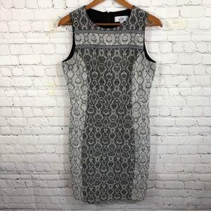 Badgley Mischka Geo Print Shift Dress 8